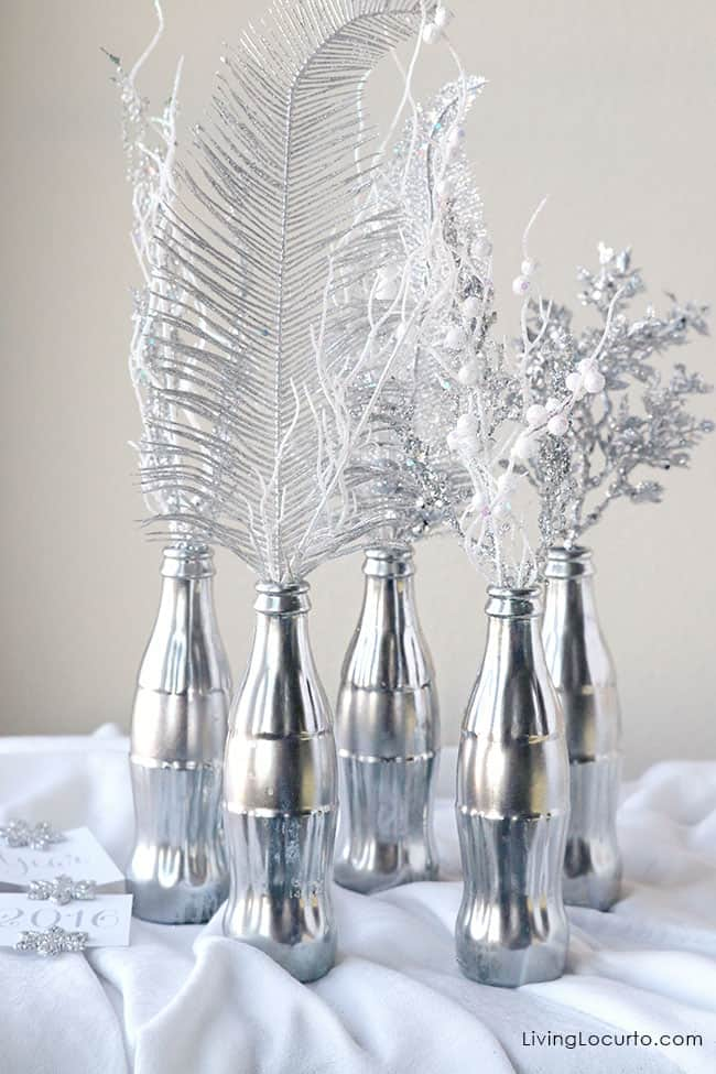 How to Make a Mercury Glass Coke Bottle Centerpiece Craft