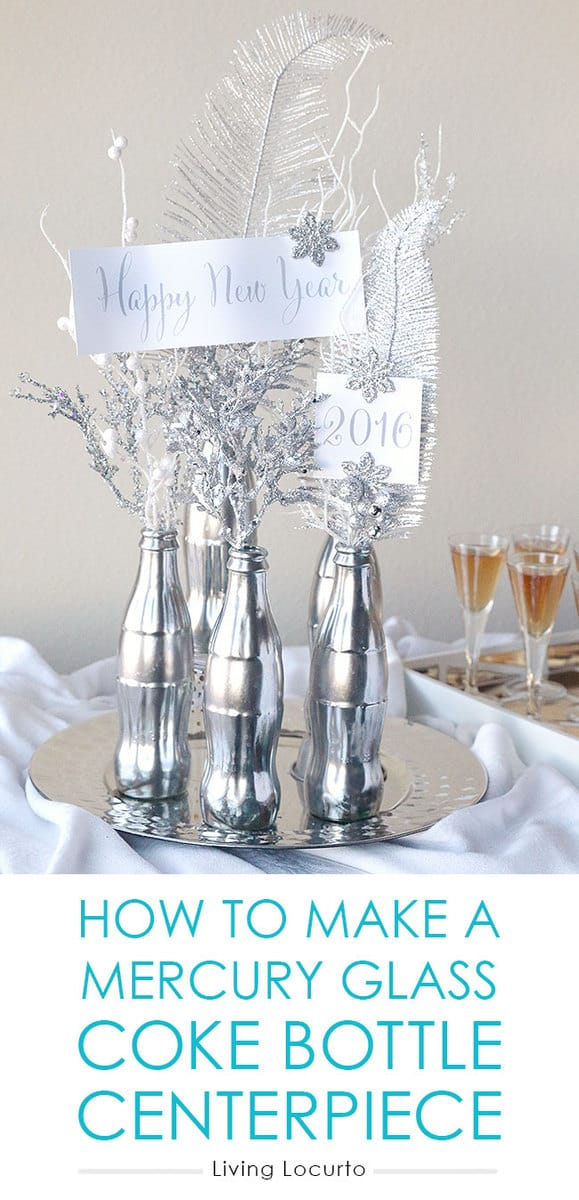 How to Make a Mercury Glass Coke Bottle Centerpiece. Easy DIY Craft ...