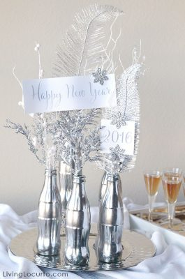 How to Make a Mercury Glass Coke Bottle Centerpiece