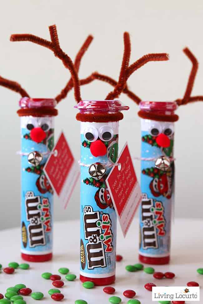 Rudolph the Red Nosed Reindeer DIY Christmas Candy. Cute Christmas Elf Craft idea for kids.