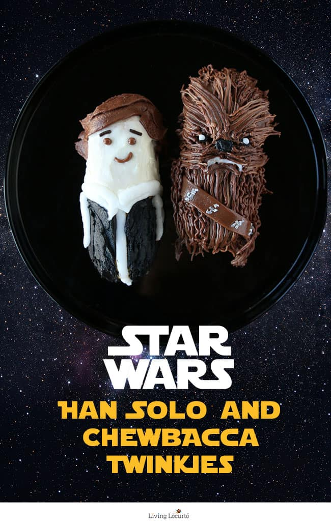 Star Wars Graduation Party Ideas - Cute Star Wars No-Bake Party Treats! How to make Han Solo and Chewbacca Twinkie Cakes. by @livinglocurto