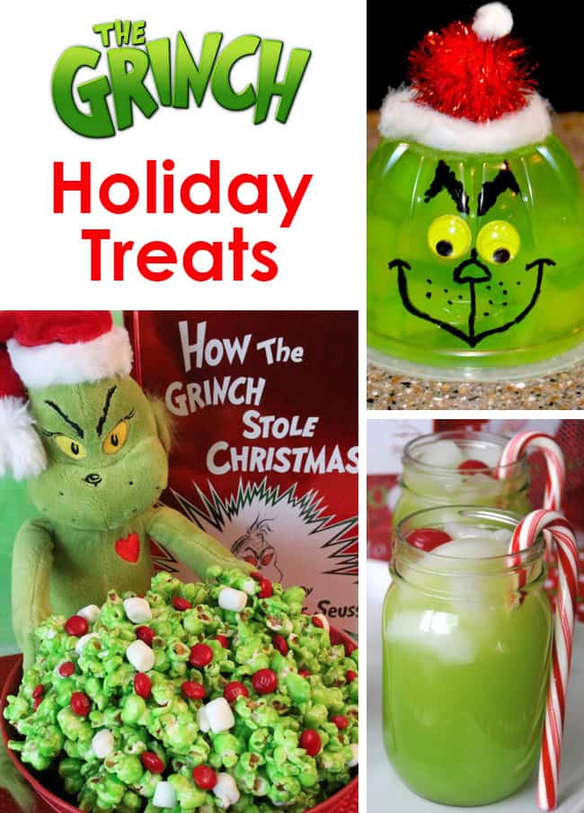 The grinch christmas treats holiday party recipe ideas for Desserts to take to a christmas party