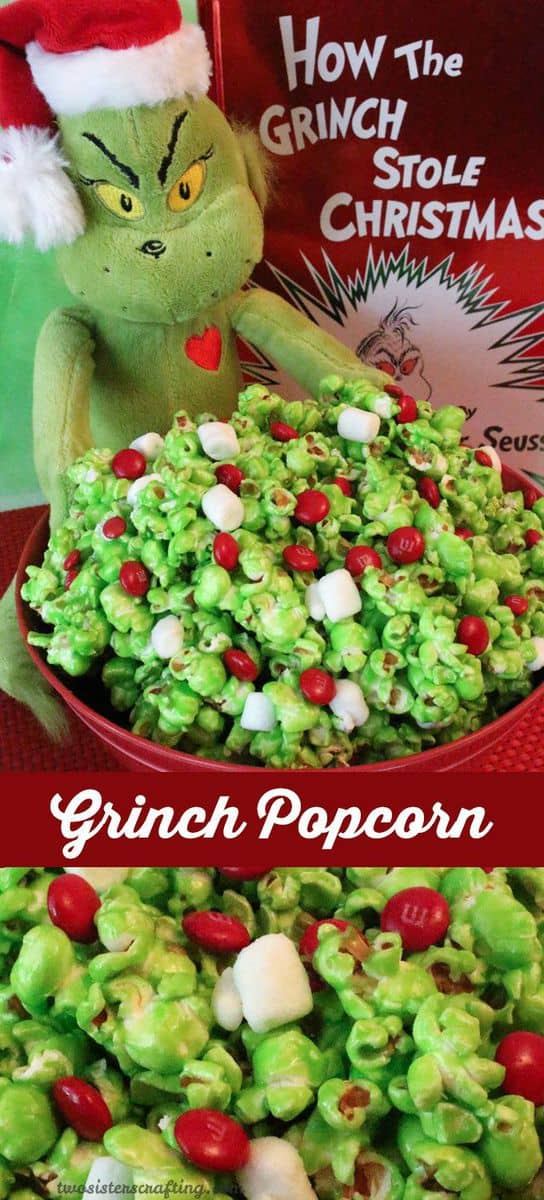 Christmas Party Food Ideas For Large Groups Part - 21: The Grinch Popcorn - The Grinch Christmas Treats! Adorable Fun Food Ideas  For Your Next