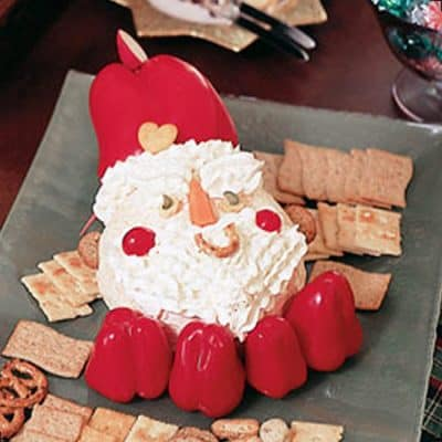 Santa Cheese Ball Christmas Party Appetizer