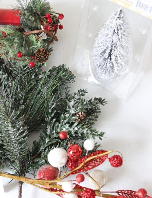 Mini Christmas Tree Centerpiece DIY Craft. Simple Holiday Table Decor You  Can Make In Minutes
