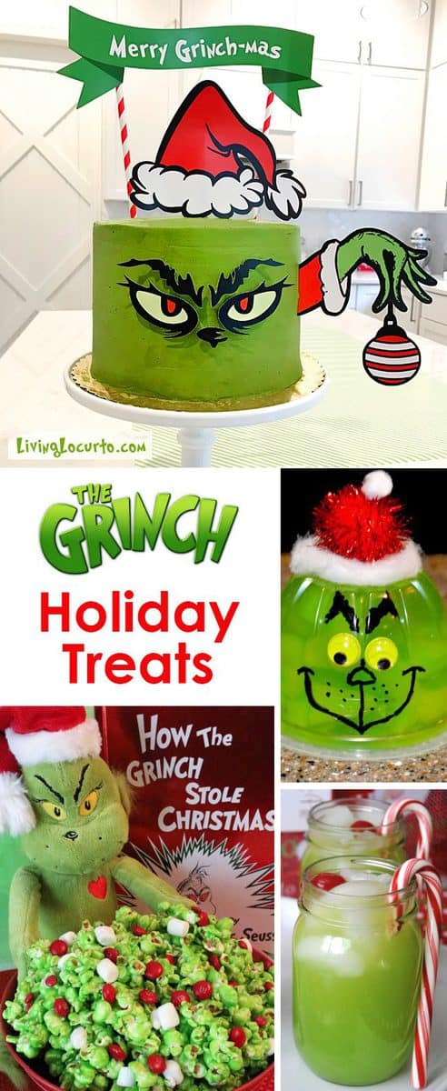 Christmas Party Appetizer Ideas Part - 40: The BEST Grinch Christmas Treats For A Holiday Party! Adorable Fun Food Recipe  Ideas For
