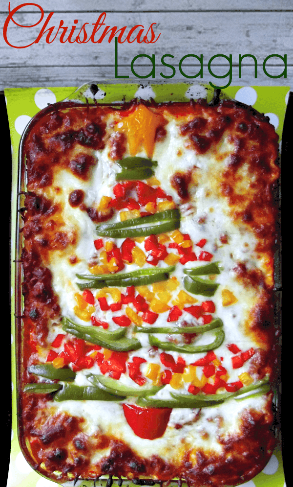 Lasagna - Christmas Tree Shaped Appetizers perfect for a Holiday Party!
