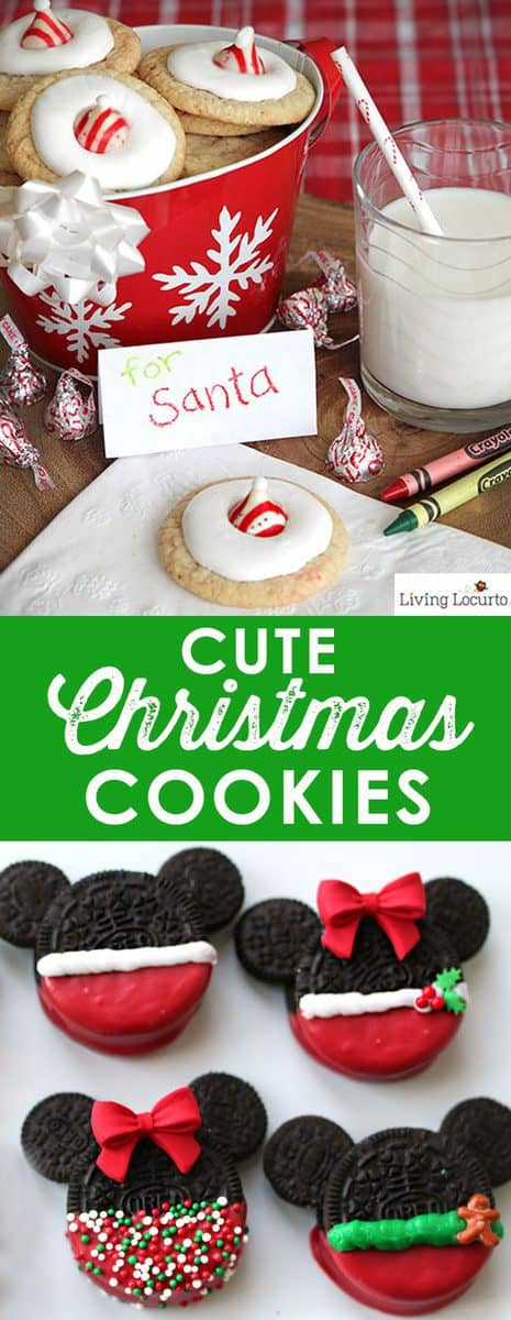 Cute Christmas Cookies to inspire you this holiday season. Easy cookie recipes to make with kids! Some of the best Christmas cookie ideas. #cookies