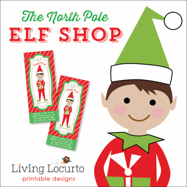 The North Pole Elf Ideas Shop - Printables for your Christmas Elf by Living Locurto