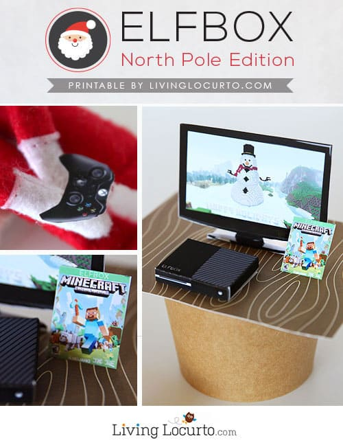 Cute Printables with Minecraft and Fortnite elf sized games will give kids a fun surprise! Elf Video Game Printables are perfect for your Christmas Elf on the Shelf!  #elf #printables