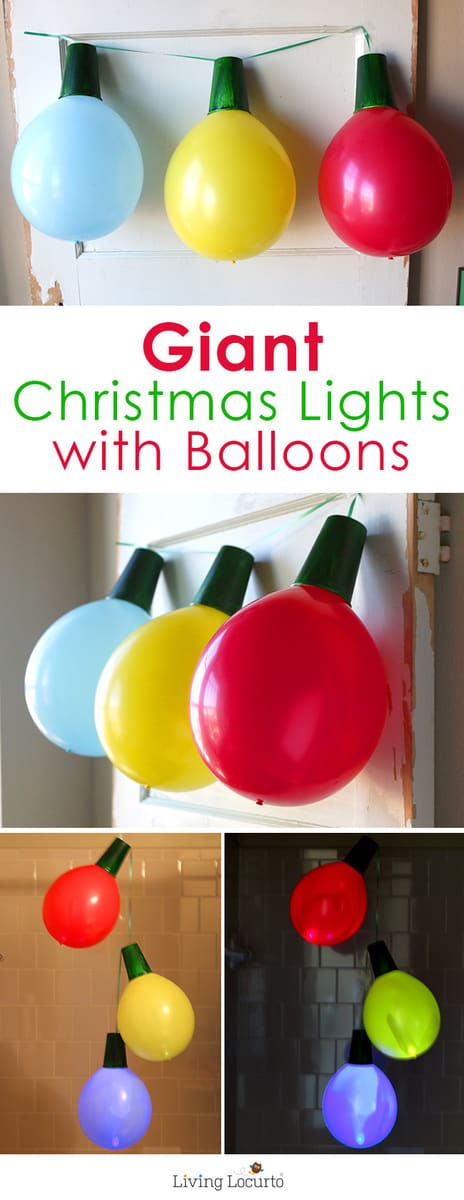 Giant balloon christmas lights and ornaments for Christmas party ideas for small office