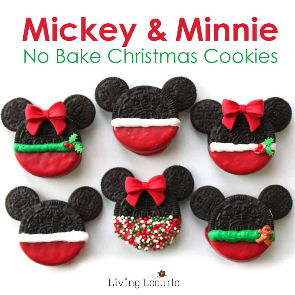 Mickey amp minnie mouse christmas cookies made with oreos fun disney