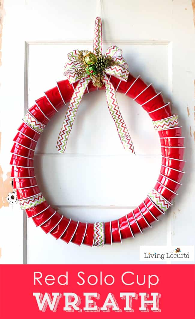 how to make a red solo cup christmas wreath fun diy idea for a very