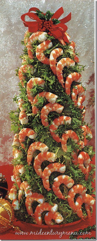 Shrimp- Christmas Tree Shaped Appetizers perfect for a Holiday Party!