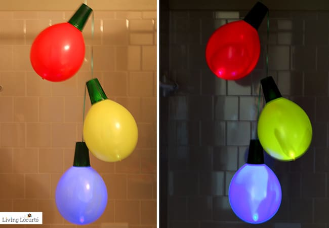 Giant Balloon Christmas Lights and Ornaments | DIY Holiday Home Decor