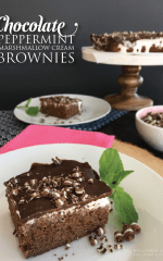 Chocolate Peppermint Marshmallow Cream Brownies Recipe by Pamela Smerker Designs for Living Locurto