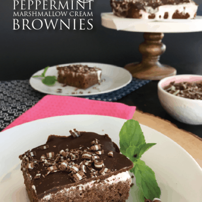 Chocolate Peppermint Marshmallow Brownies