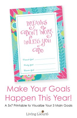 Free Printable Dreams & Goals Print