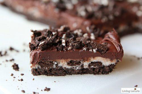 Chocolate OREO Cheesecake Bars