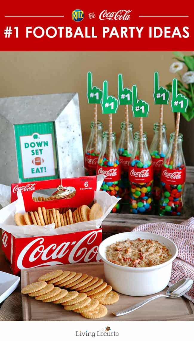 Fu football party ideas and cute free football printables are a perfect way to decorate your home for game day!