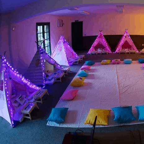 Fun Magical Fairy Party Ideas!  Slumber party with light up tents!