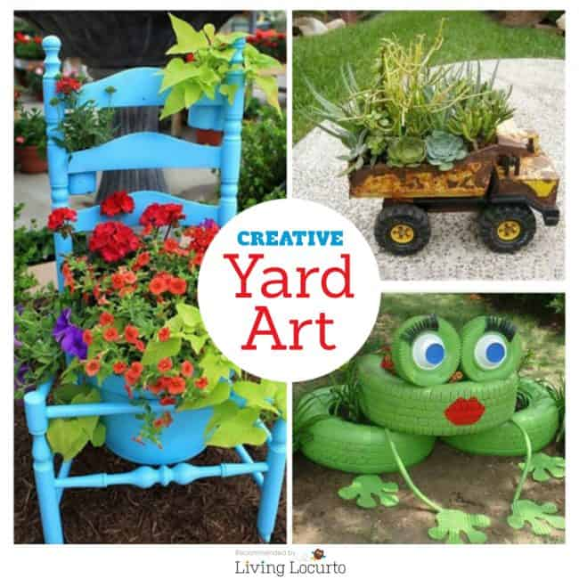 diy yard art and garden ideas homemade outdoor crafts