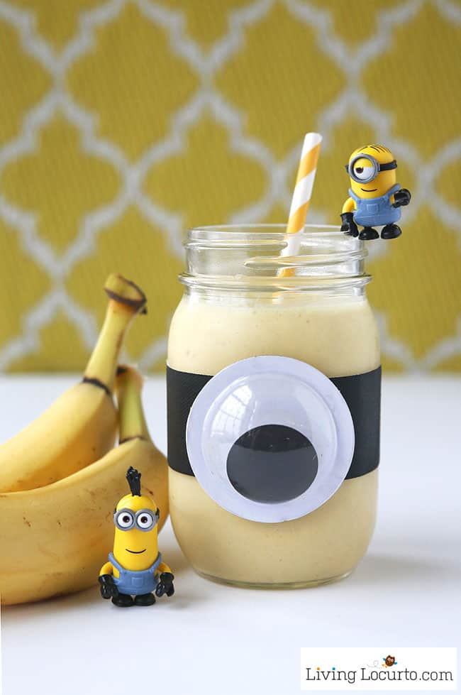 Minions Banana Smoothie Quick Healthy Breakfast Recipe