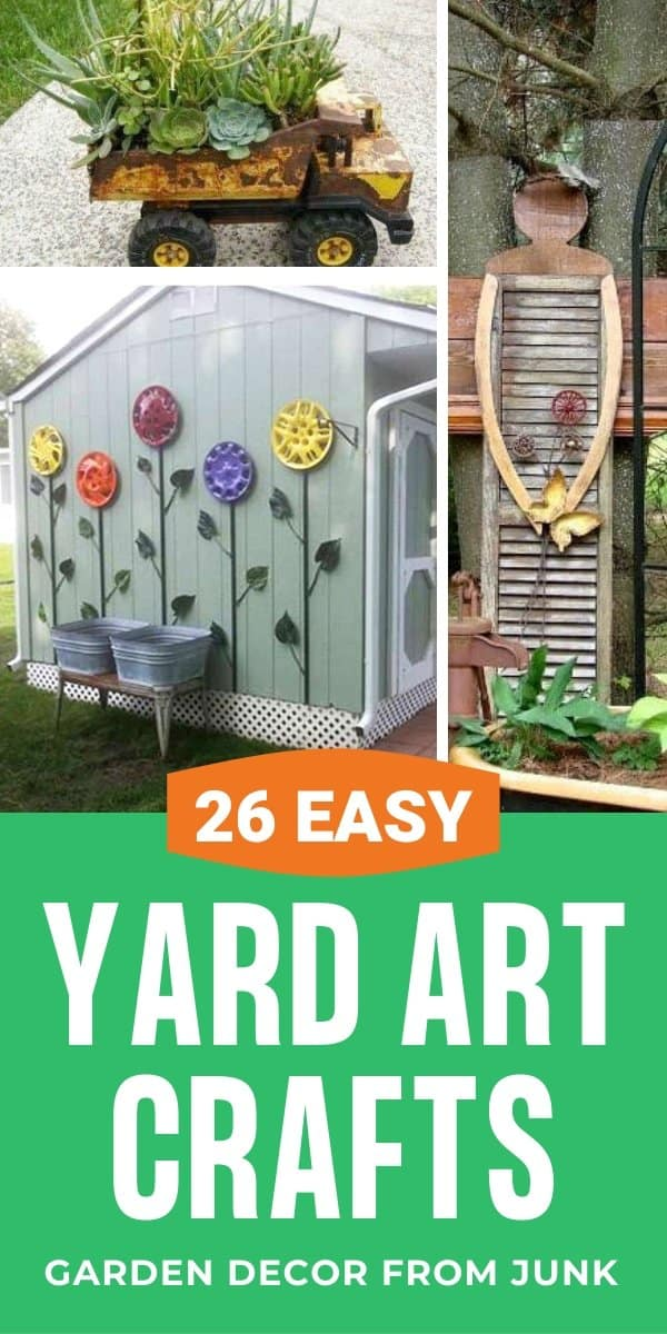 26 Diy Yard Art Crafts Home Decor Garden Ideas