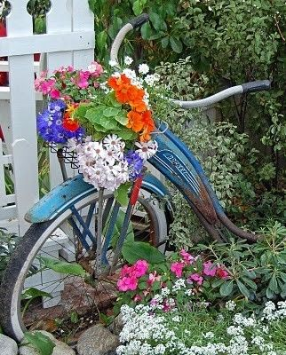Garden Art Ideas rusty metal garden decor Creative Ways To Add Color And Joy To A Garden Porch