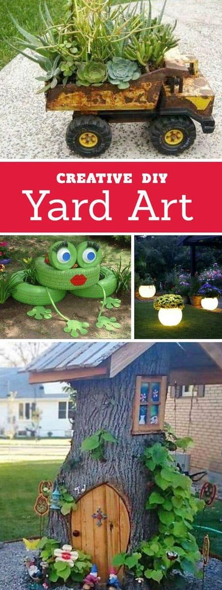 DIY Yard Art and Garden Ideas | Homemade Outdoor Crafts