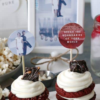 Allegiant Party Ideas | Red Velvet Stacked Cookie Cakes
