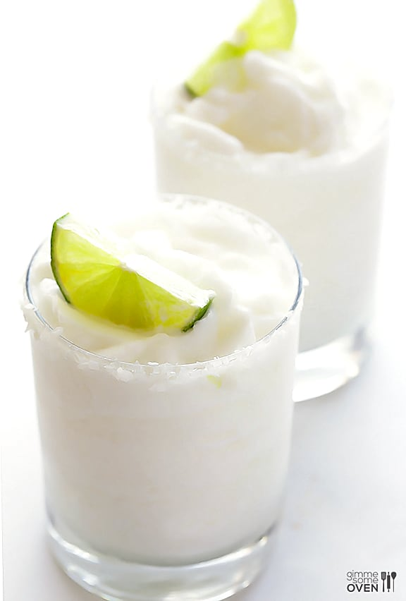 Coconut Margaritas. The Best Margarita Recipes ever! From Strawberry and Blackberry to Pineapple and Coconut, you'll find a frozen cocktail perfect for party drink or a hot summer day! LivingLocurto.com