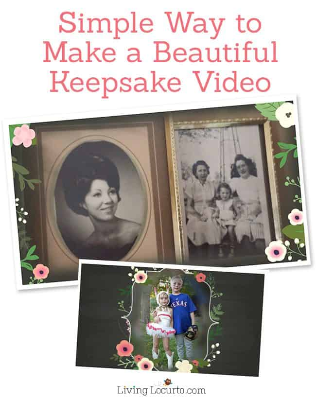 Mother's Day Keepsake Gift Idea. Tips for how to make a beautiful video with photos and video. It's simple and easy with Animoto. ~ LivingLocurto.com