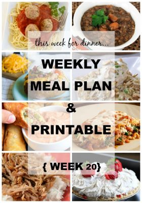 Meal Plan for the Week!