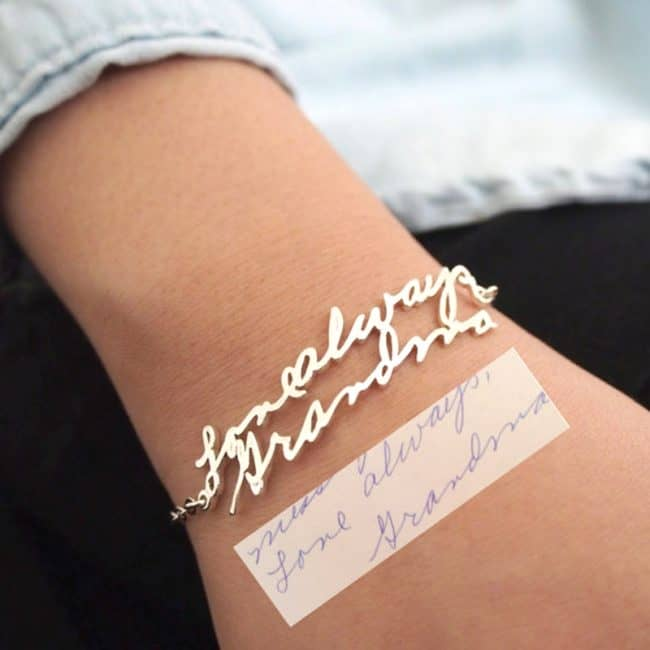 Handwritten Signature Bracelet - Great gift idea!
