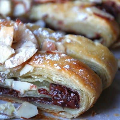Chocolate Braid Puff Pastry Dessert