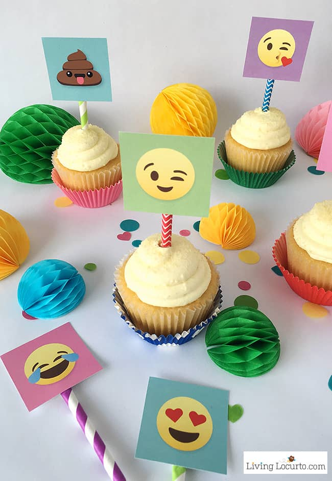 Emoji Party Ideas! Colorful Free Printables