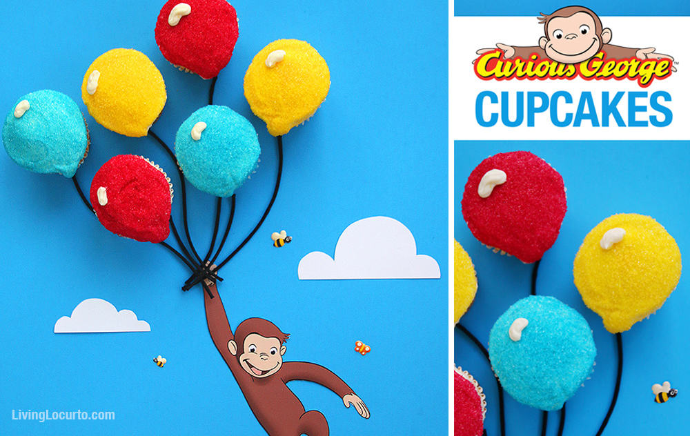 Remarkable Curious George Cucpakes Balloon Cake Recipe Living Locurto Personalised Birthday Cards Beptaeletsinfo