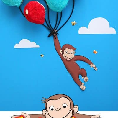 Curious George Balloon Cupcakes