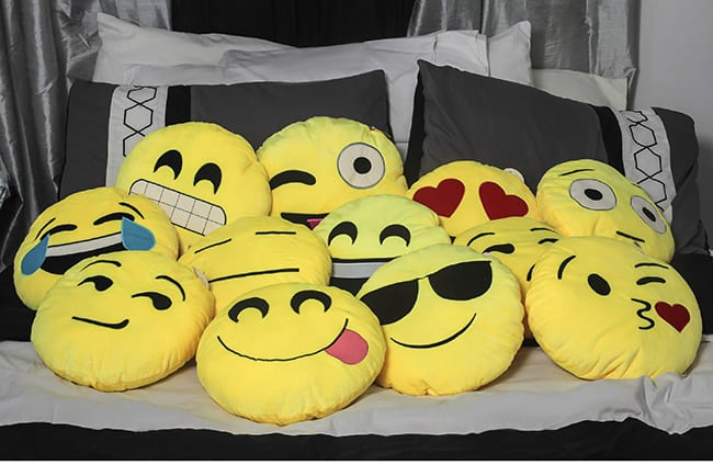 Emoji Throw Pillows - Cute for an Emoji party!