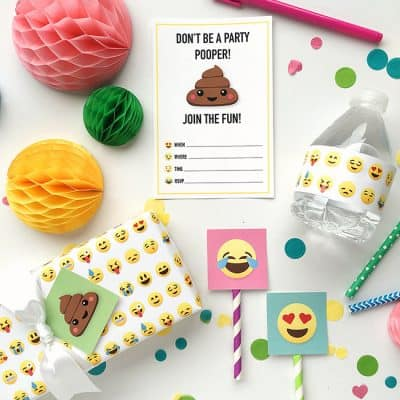 Emoji Party Ideas and Colorful Printables