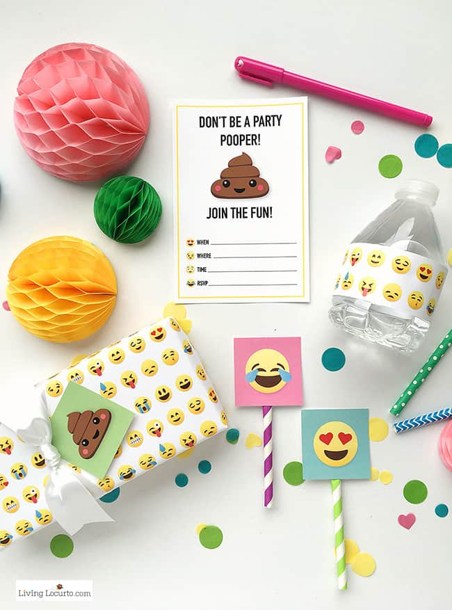 emoji party ideas colorful free party printables perfect for any emoji fan emoji poop