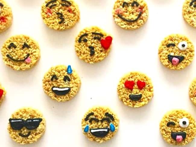 Emoji Rice Krispies Treats