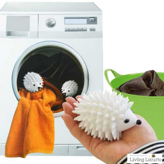 Cute Hedgehog Dryer Balls! Makes laundry fun and clothes softer.