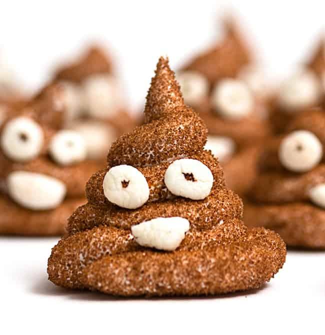 Homemade Poop Emoji Peeps