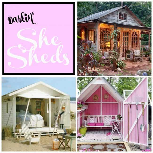 The most beautiful She Sheds! Dream homes and small work areas for women. The most darling, charming, and fun backyard garden sheds for women.