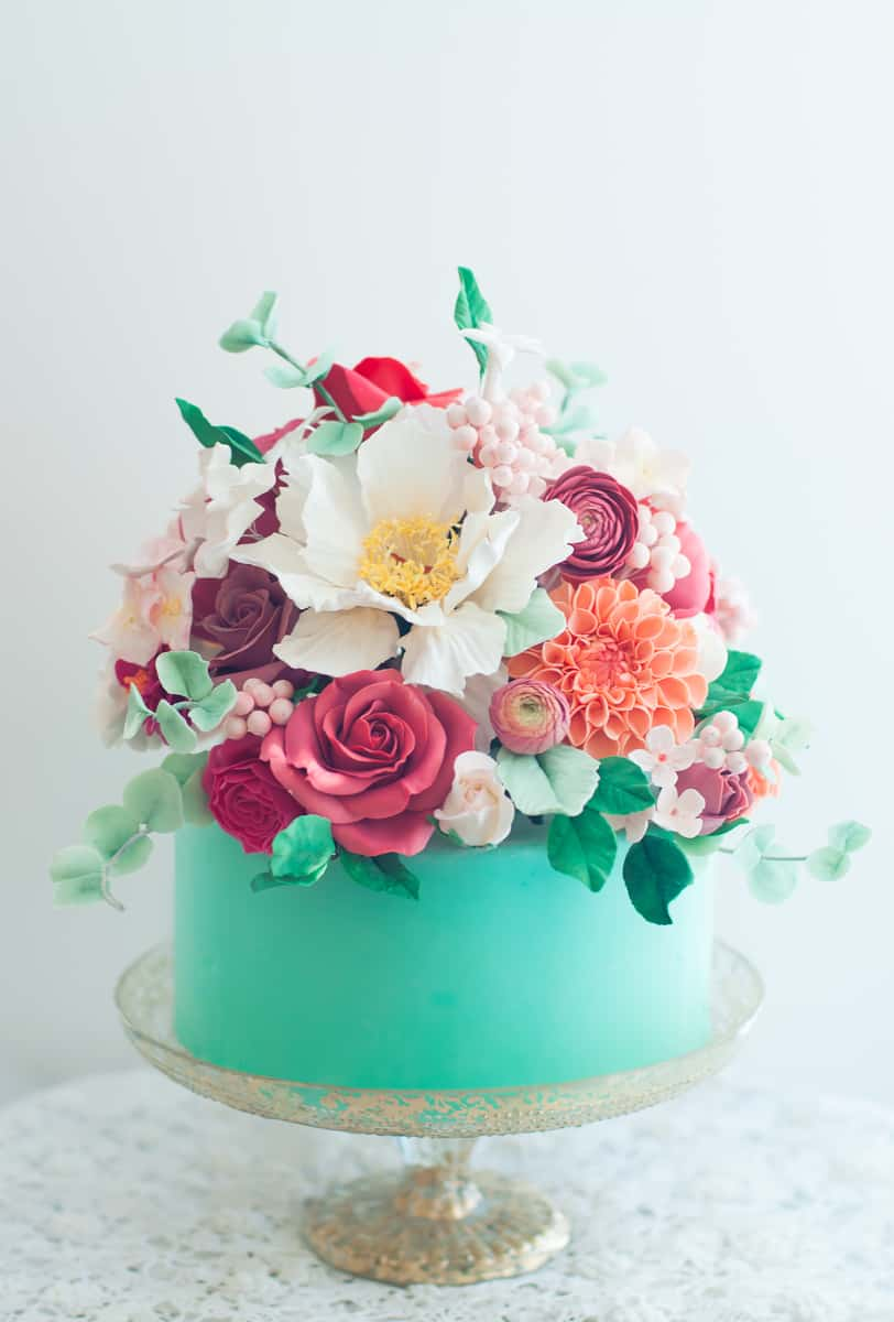 Summary Birthday Wishes Flower Cakes 1800flowers Cake Pastel Flowers Healthy
