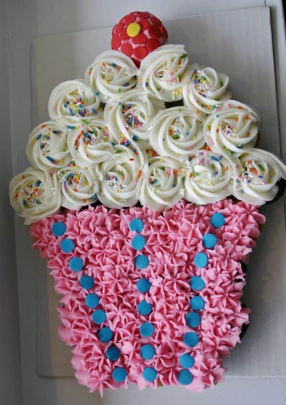 Cupcake Cake Best Birthday Pull Apart Cakes Simple Creative Inspiration For A