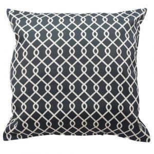Decorative throw Pillow in black