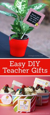 Easy DIY Teacher Gifts